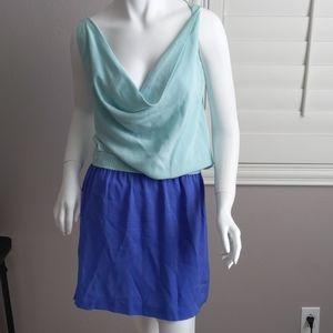 Diane Von Furstenburg Lou Silk Colorblock Dress